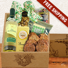 Purim White Wine Party Gift Box