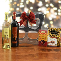 Red & White Wine Rack Duo Gift Basket