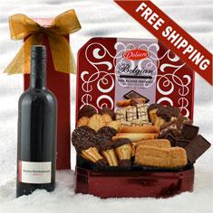Red Wine & Belgian Chocolate Cookie Gift Tin