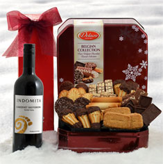 Red Wine & Belgian Chocolate Cookie Gift Tin