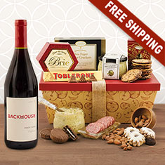 Red Wine & Gourmet Goodness Gift Box