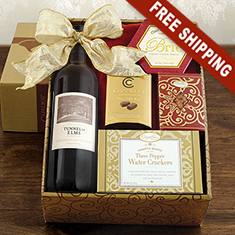 Red Wine & Snax Gift Box