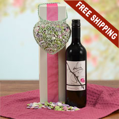 Heart Of The Matter Red Wine Gift Basket