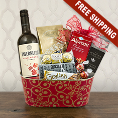 Red Wine Romance Gift Basket