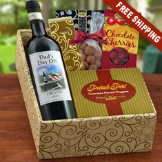 Relax, Dad Red Wine & Snax Gift Box