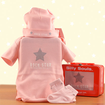 silly souls rock star baby girlgift set. Black Bedroom Furniture Sets. Home Design Ideas