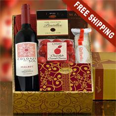 Romantic Duo Wine & Truffles Gift Box