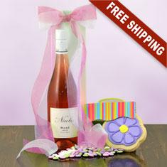 Rosé Pinot Noir & Gourmet Gift Basket