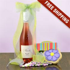 Ros� Pinot Noir & Gourmet Gift Basket