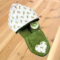 Rosebud Hooded Towel & Washcloth Gift Set