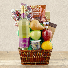 Rosh Hashana Greetings Wine Gift Basket