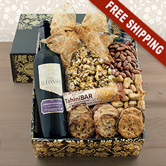 Rosh Hashana Red Wine Party Gift Box