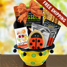 Sangria Red Wine & Ceramic Gift Bowl Fiesta