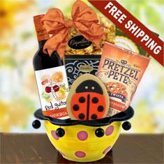 Sangria Red Wine & Ceramic Gift Bowl Fiesta