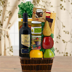 Sea of Galilee Fruit & Red Wine Kosher Gift Basket