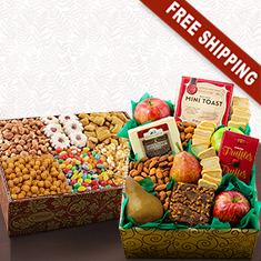 Showstopper Fruit & Gourmet Double Decker Gift Box