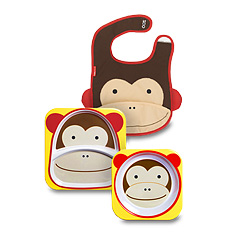 Skip Hop Monkey Feeding Time Trio