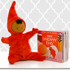 The Snowy Day Doll & Board Book Gift Set