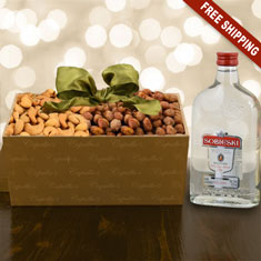 Sobieski Vodka & Nuts Gift Box