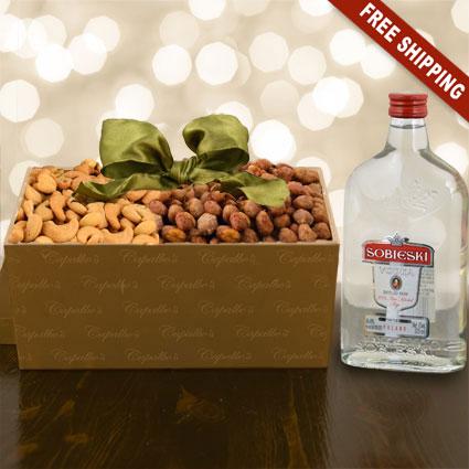 Sobieski Vodka & Nuts Gift Box