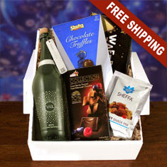Sparkling White Wine & Snacks Gift Box
