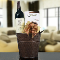 Stag's Leap Cask 23 Cab Sauv & Truffles Gift Basket