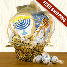 Star of David Hanukkah Gourmet Gift Basket