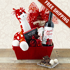 Sweetheart Wine Gift Basket