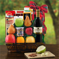 Talk Of The Town Merlot Wine Gift Basket