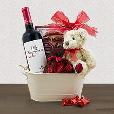 Taste of Romance Wine Gift Basket