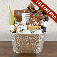 Tempting Red & White Wine Duo Gift Basket