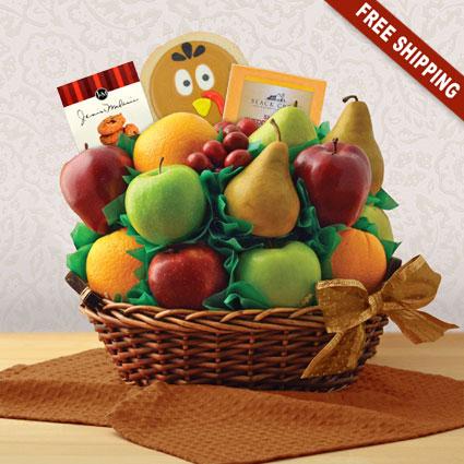 Thanksgiving Garden Fresh Fruit Gift Basket