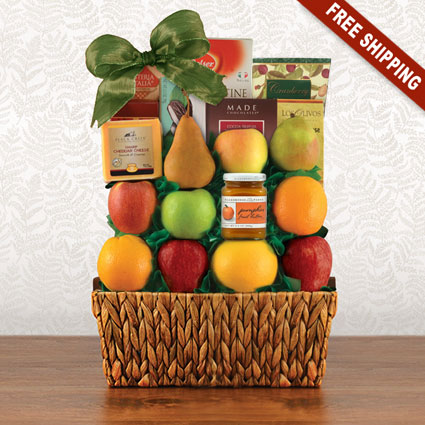 Thanksgiving Talk Of The Town Fruit Gift Basket