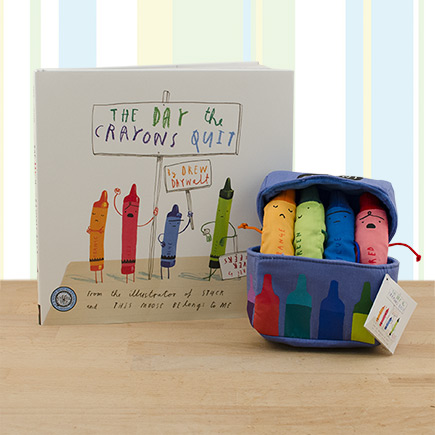 The Day the Crayons Quit Playset & Hardcover Book