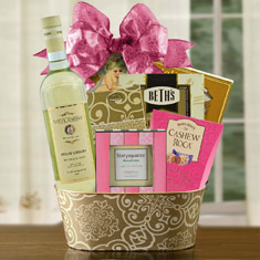 Think Pink Wine Gift Basket