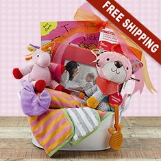 Tickled Pink Girl Gift Basket