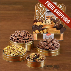 Festive 5-Tin Snack Feast Gift Set