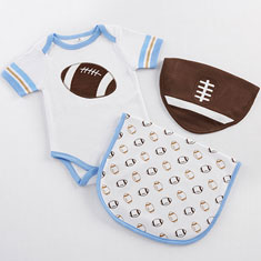 Tiny Touchdown Layette Set