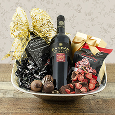 Total Elegance Red Wine Gift Basket