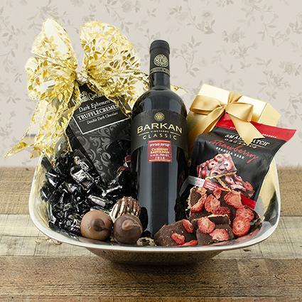 Total Elegance Red Wine Gift Basket