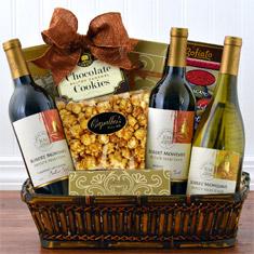 Mondavi Triple Wine Sonoma Gift Basket