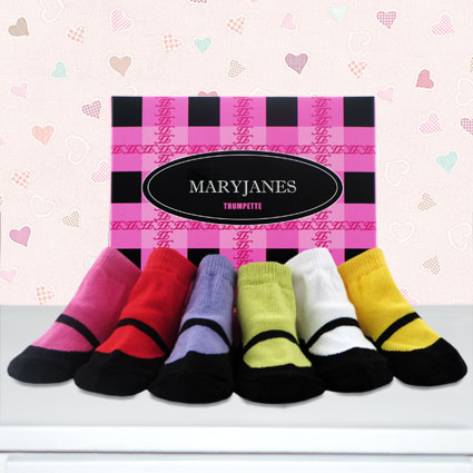 Trumpette Mary Jane Baby Socks Gift Set