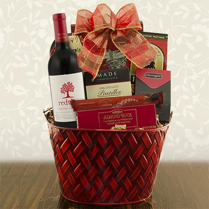 Very Merry Red Wine Gift Basket