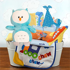 Welcome Home Baby Boy Large Gift Basket