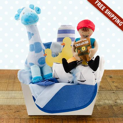 Welcome Home Baby Boy Starter Gift Basket
