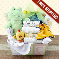 Welcome Home Baby Medium Gift Basket