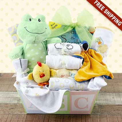 Welcome Home Baby Medium Gift Basket