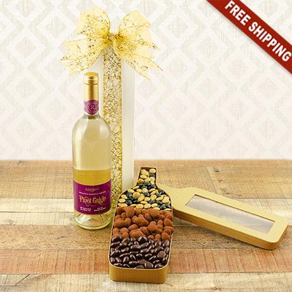 White Wine & Chocolates Gift Set