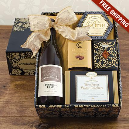 White Wine & Snax Gift Box