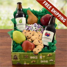 Wild Berry & Pear Hard Cider and Fresh Fruit Gift Box